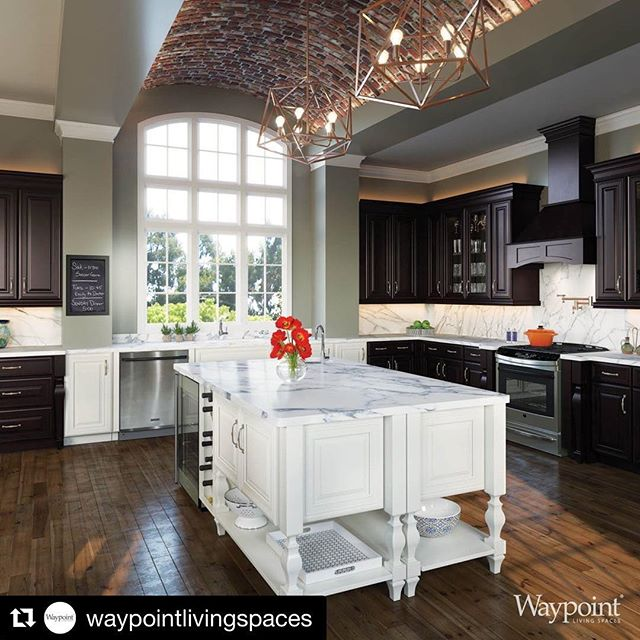 We're proud to carry quality products that are practical and beautiful! #Repost @waypointlivingspaces  #waypointlivingspaces #kitchencabinets #designinsights