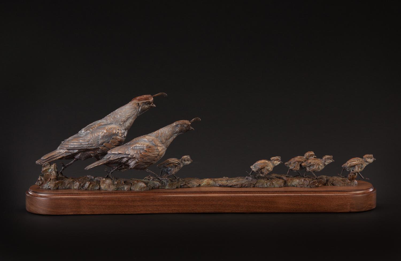 "Cheep Transportation   10"" x 30"" x 5""   Bronze   Edition of 35   $5,900"