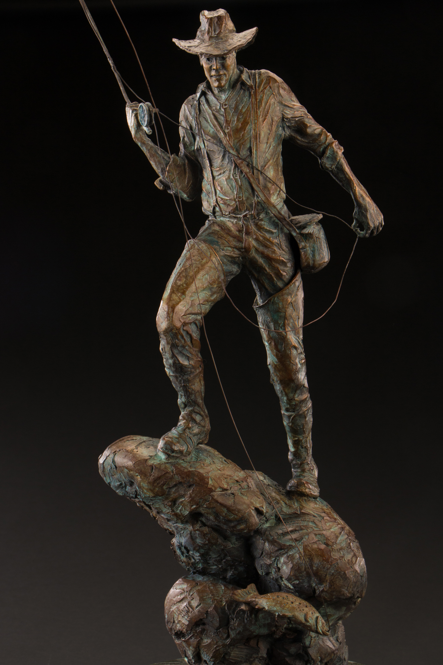 "Hooked | 16""H (22""w/ rod) 10"" x 6"" 