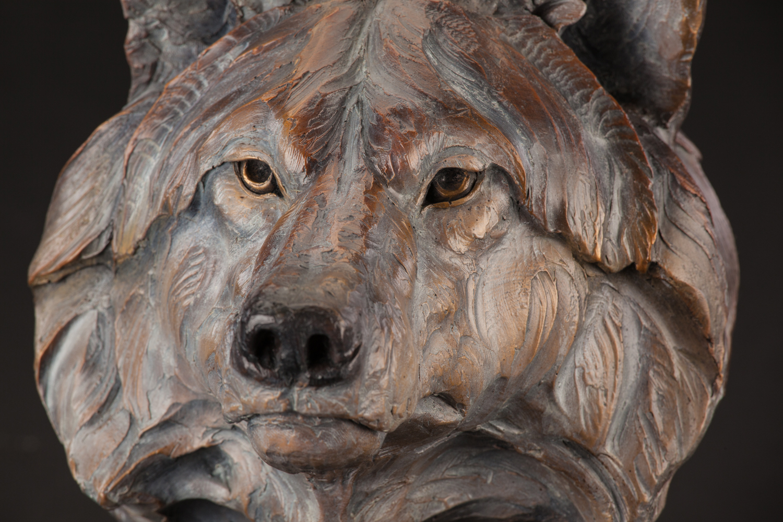 "Lobo   10"" x 7"" x 8.5""   Bronze   Edition of 35   $2,200"
