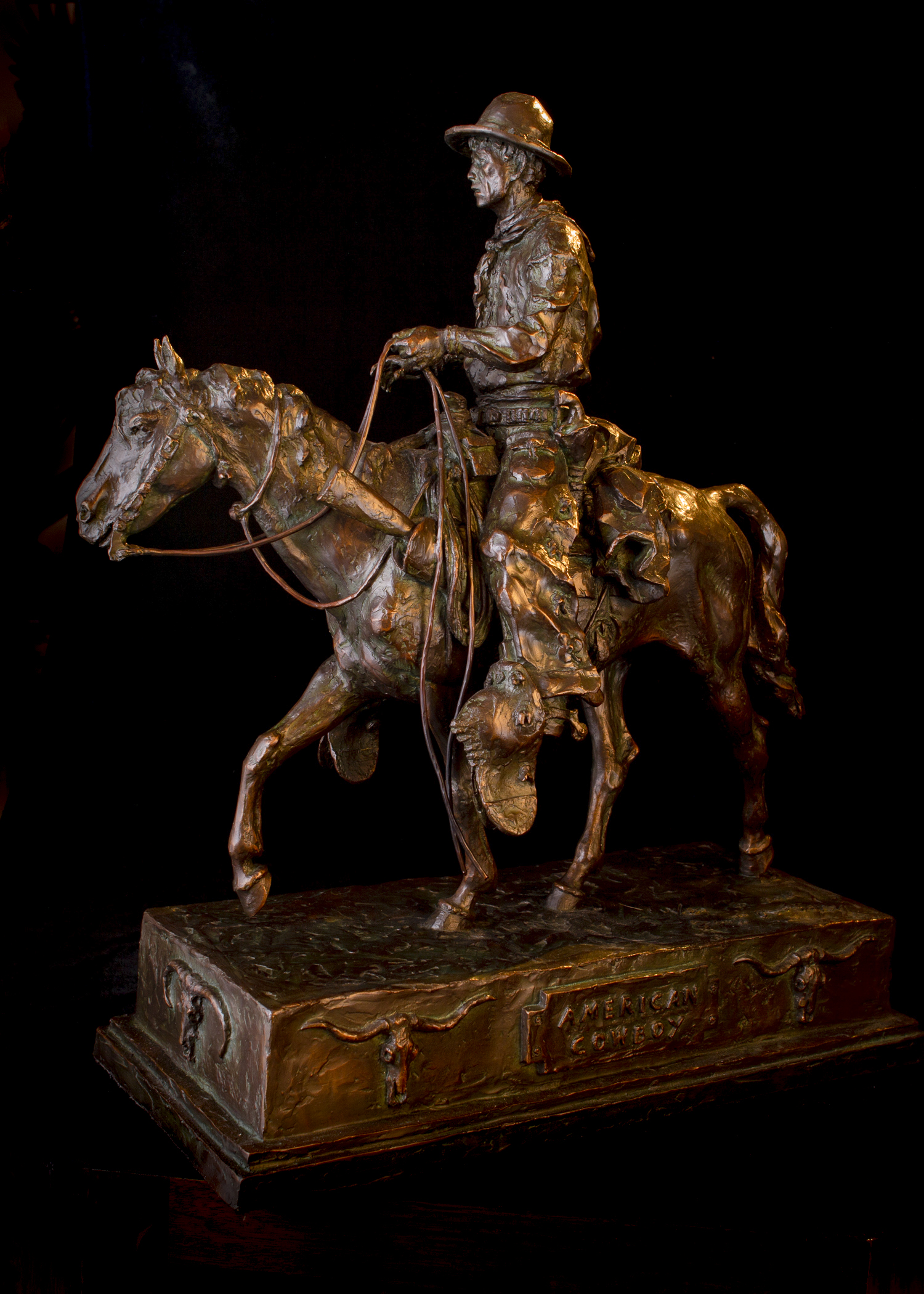 "American Cowboy | 24.5"" x 22"" x 9.5"" 