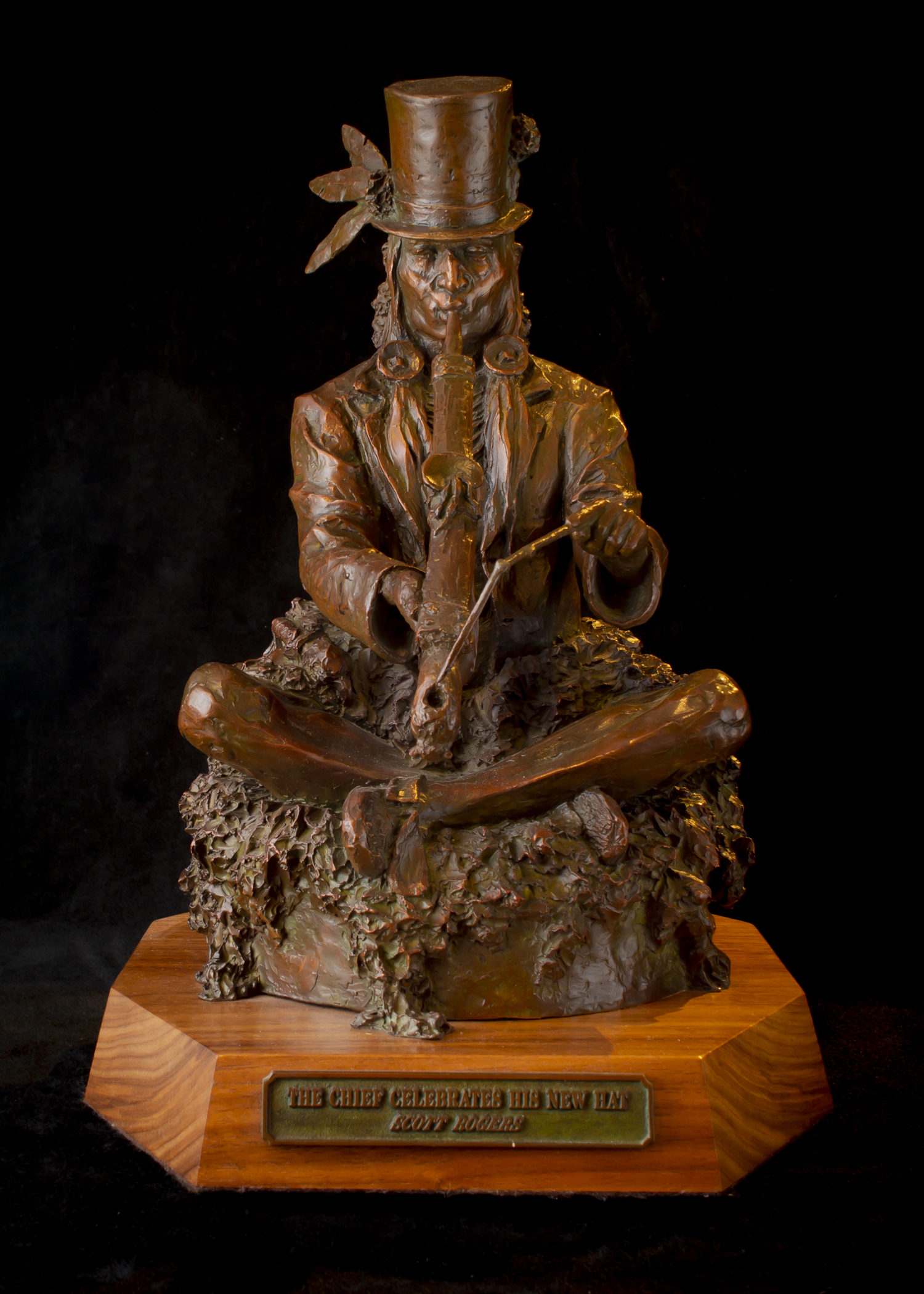 "The Chief Celebrates His New Hat (Small) | 14"" x 9"" x 9"" 