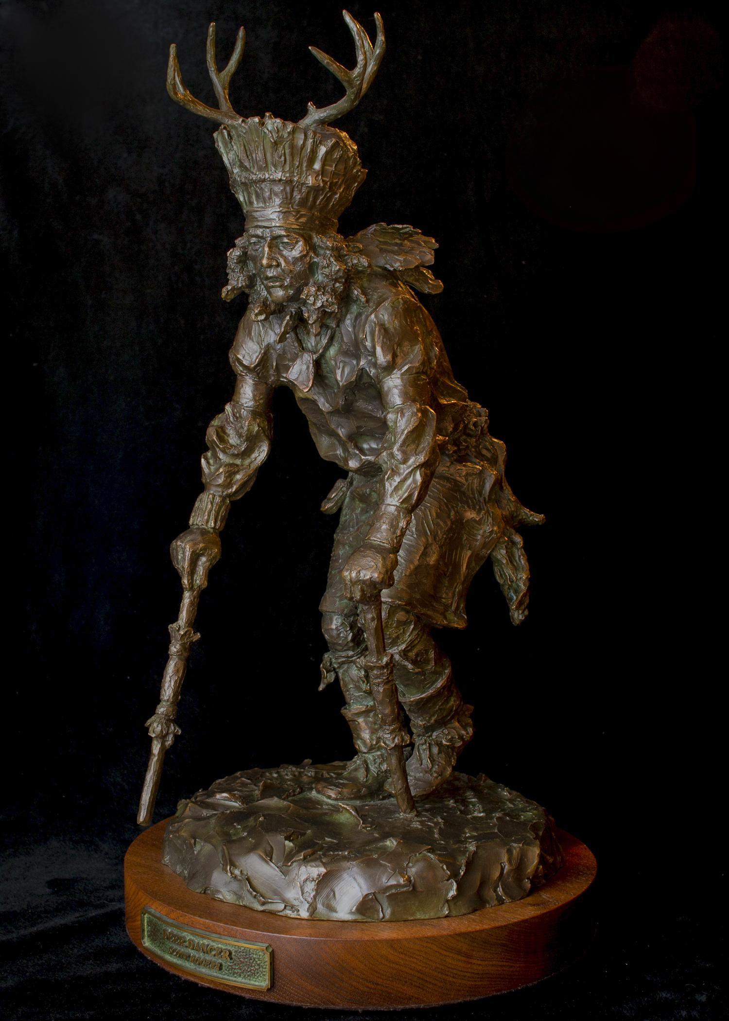 """Deer Dancer   22"""" x 11"""" x 11""""   Bronze   $4,200   Edition of 30"""
