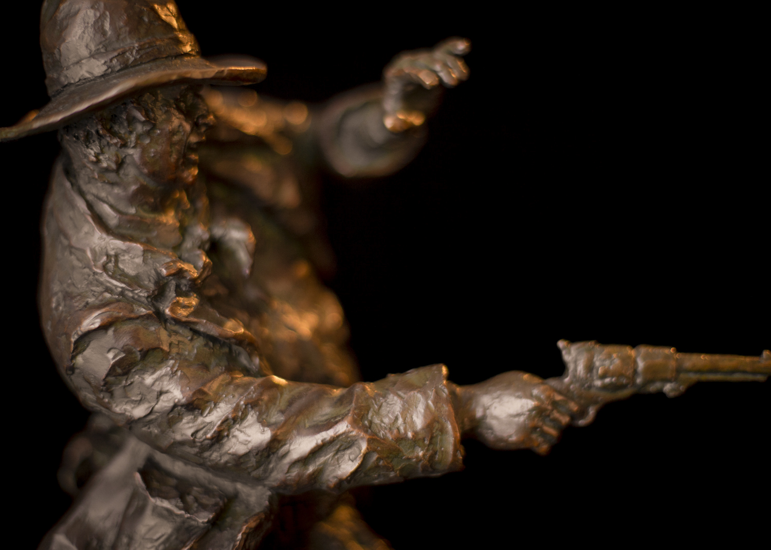 "The Law Remembers & Fate Has Been Suffered (Gunfighter Set) | 18"" x 9"" x 9"" 
