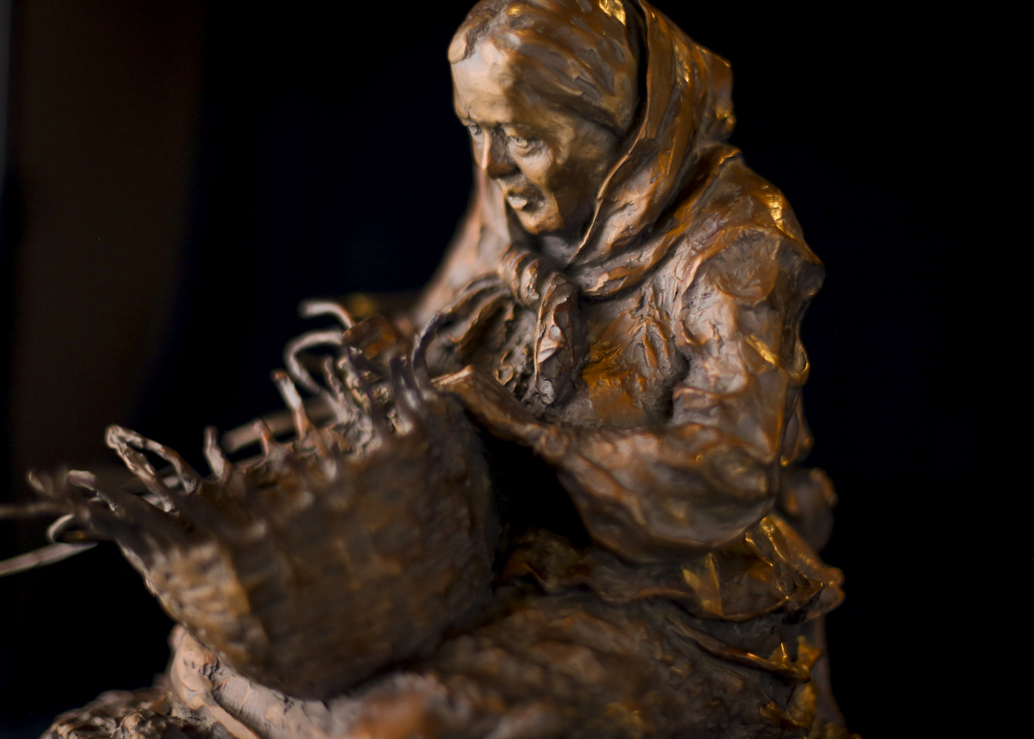 "Her Hands Know the Old Ways | 12"" x 9.5"" x 9.5"" 