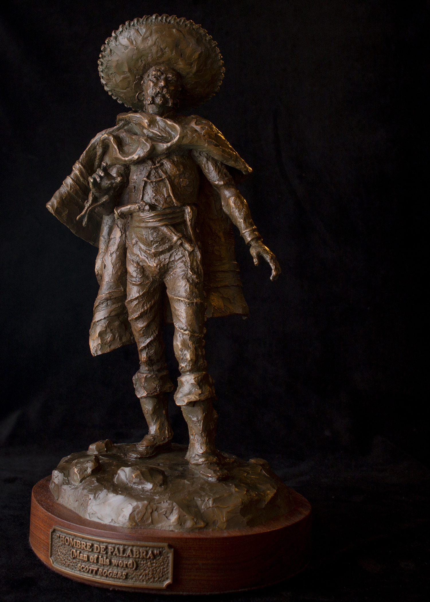 "Hombre De Palabra   17.5"" x 8"" x 9""   Bronze   $2,900   Edition of 30"