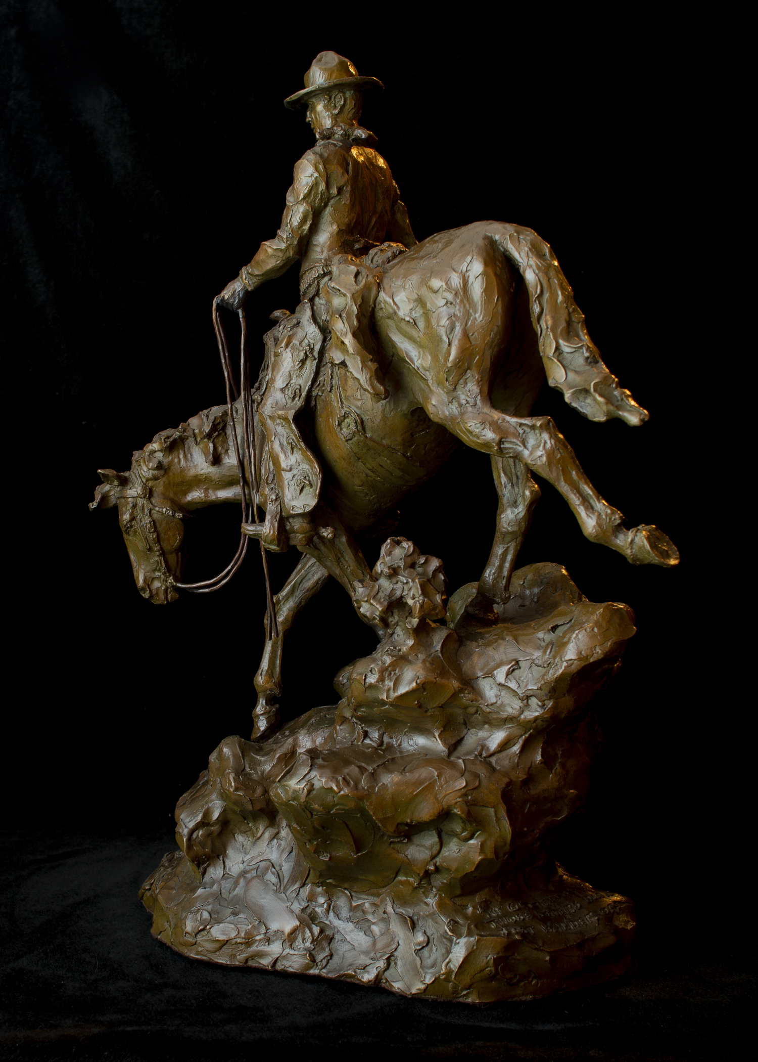"My Gut Tells Me Those Steers Don't Just Wander Off | 23"" x 16"" x 9"" 