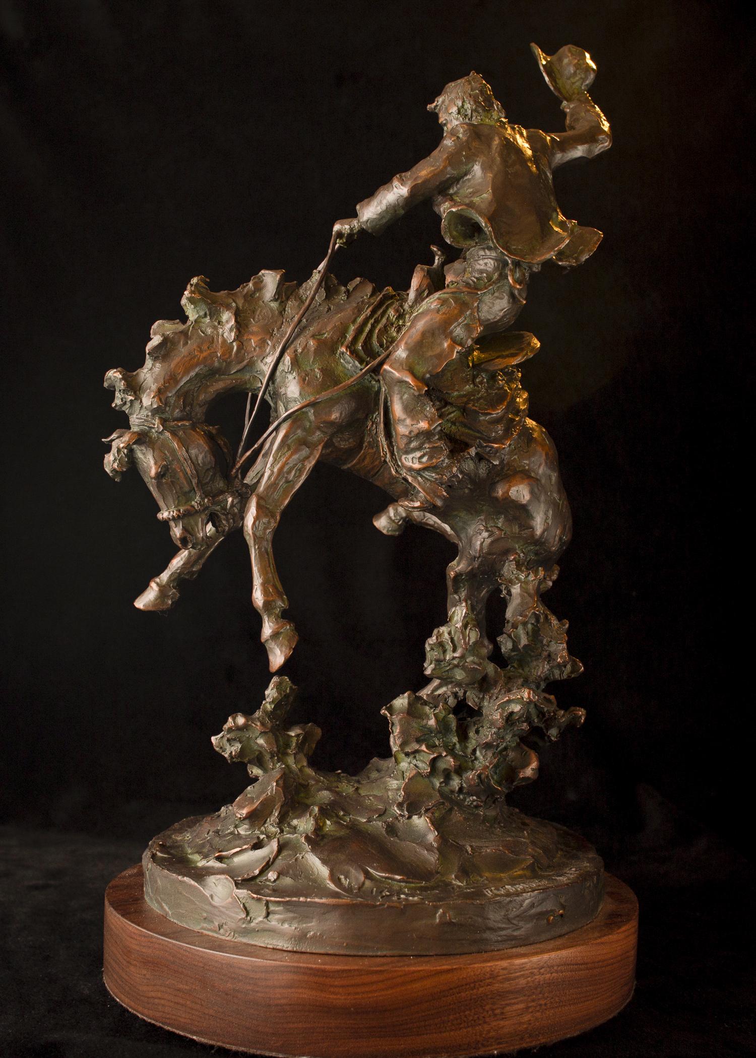 """Range War   18"""" x 11"""" x 10""""   Bronze   $4,200  Edition of 30"""
