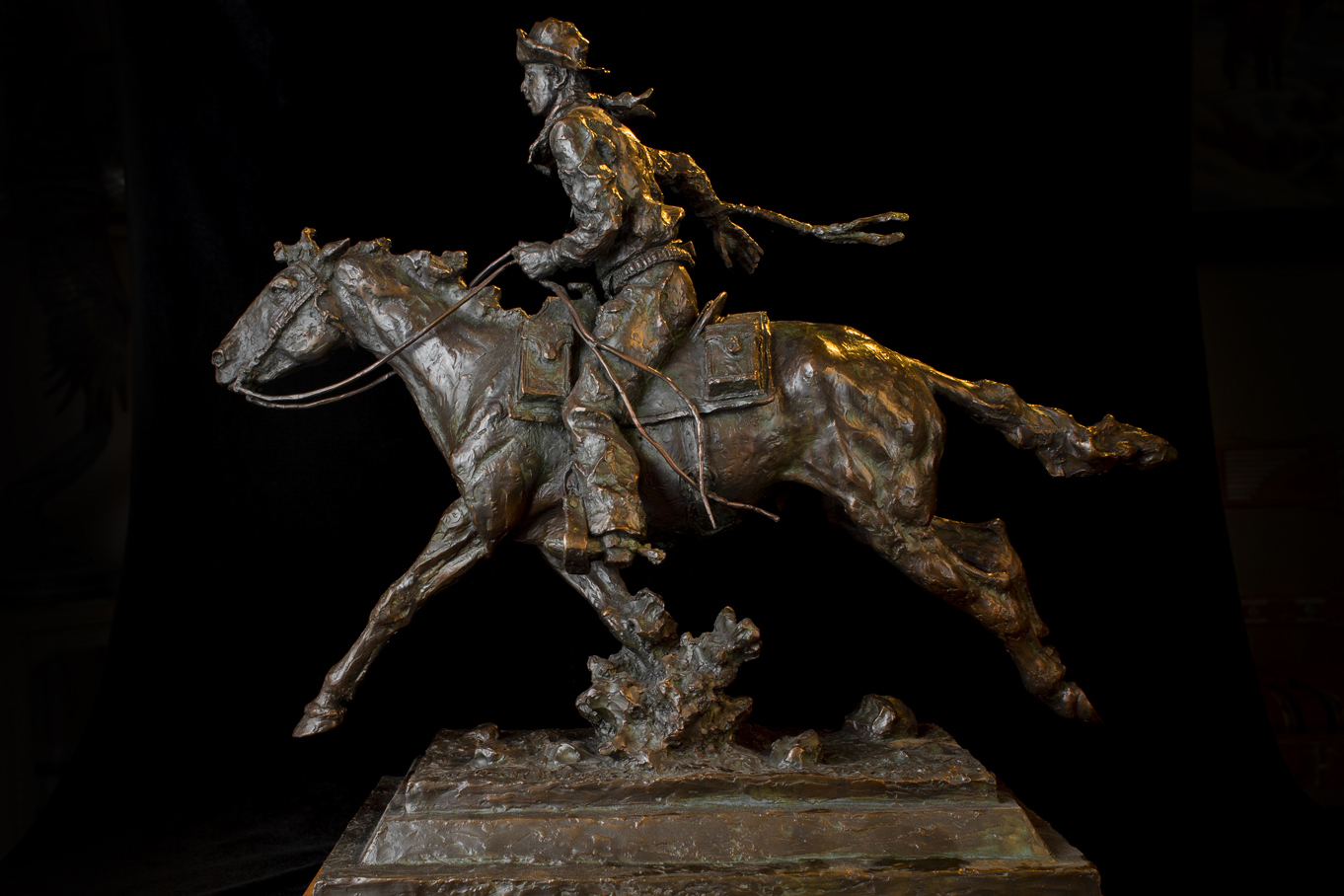 "The Pony Express | 20"" x 23"" x 10"" 