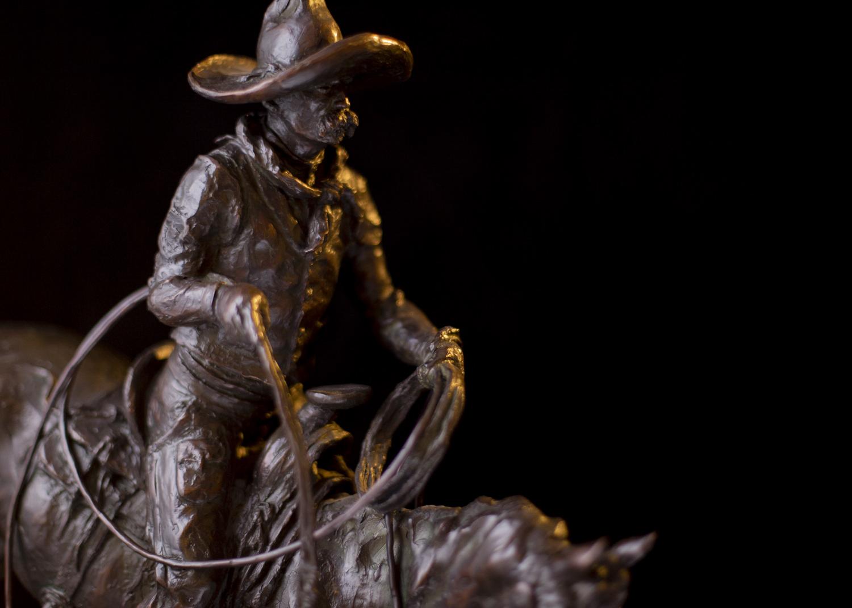 """Vaquero   22"""" x 16"""" x 7""""   Bronze   $4,800   Edition of 30"""