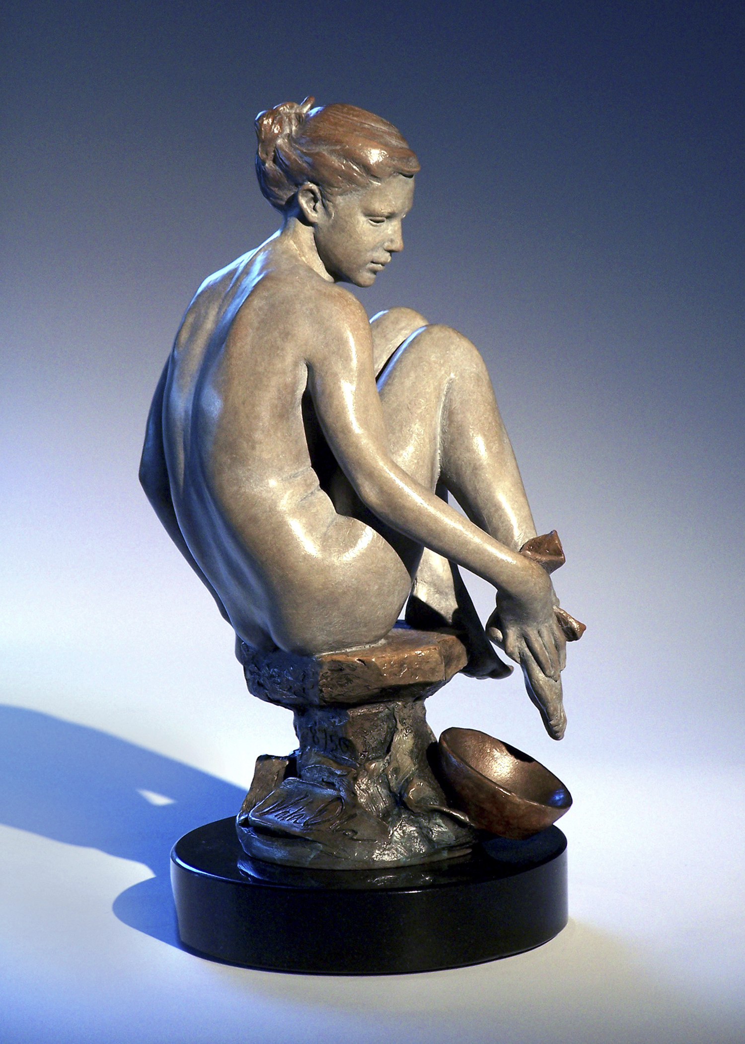 "Bather | 11"" x 5"" x 5"" | Bronze | $2,400"