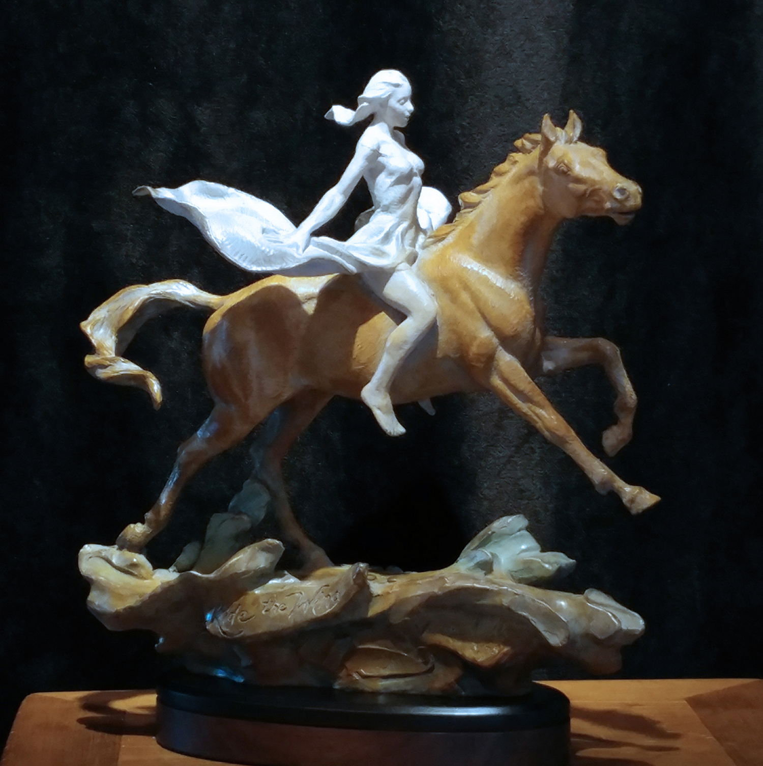 "Ride the Wind | 15"" x 14"" | Bronze | $3,800"