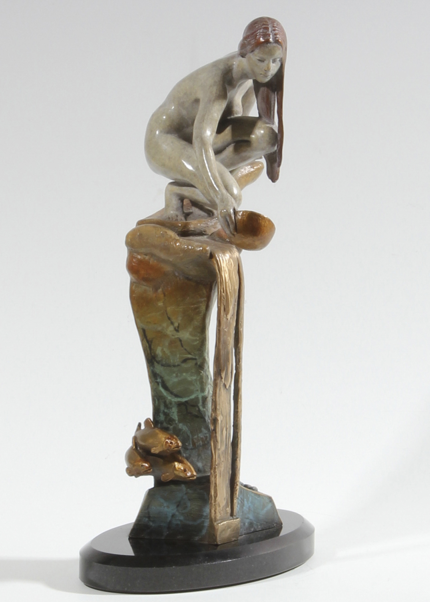 "River Song | 14"" x 7"" x 4"" | Bronze | $4,700"