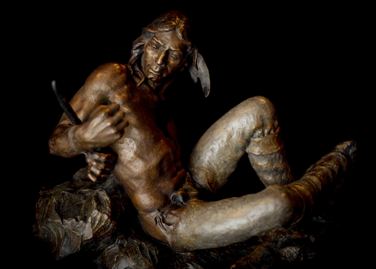"Captive Warrior | 17"" x 21"" x 13"" 