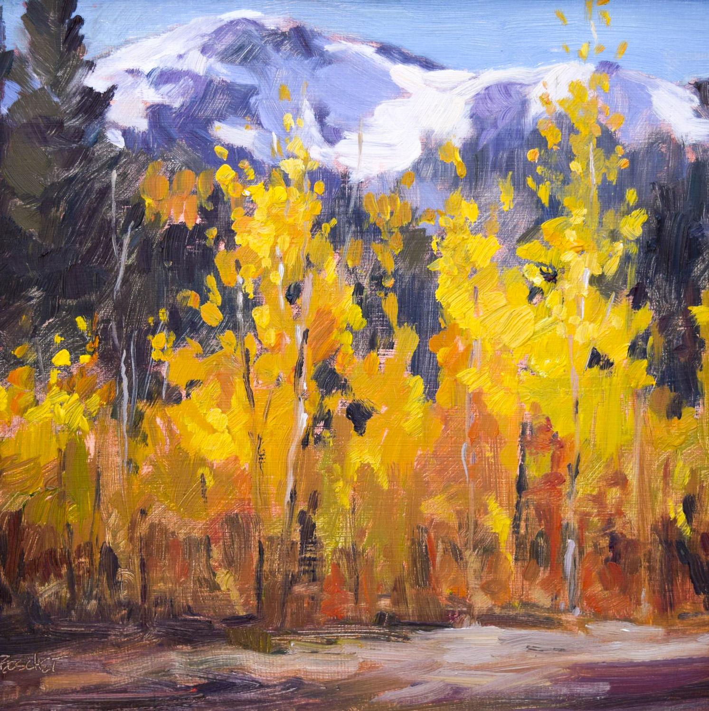 "Autumn Glow | 8"" x 8"" | Original Oil Painting | Sold | By Sandra Boschet"