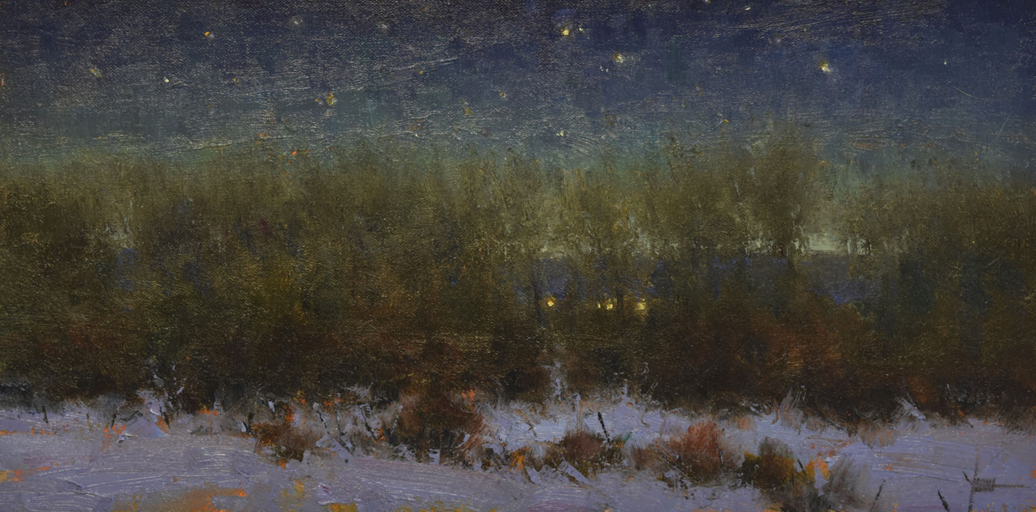 "Edge of Night | 8"" x 16"" | Oil | $1,900"
