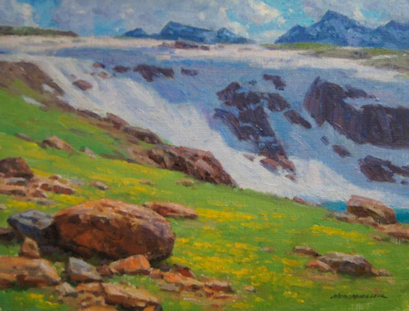 "Beartooth Spring by Ned Mueller | 12"" x 16"" | Original Oil | $2,800.00"