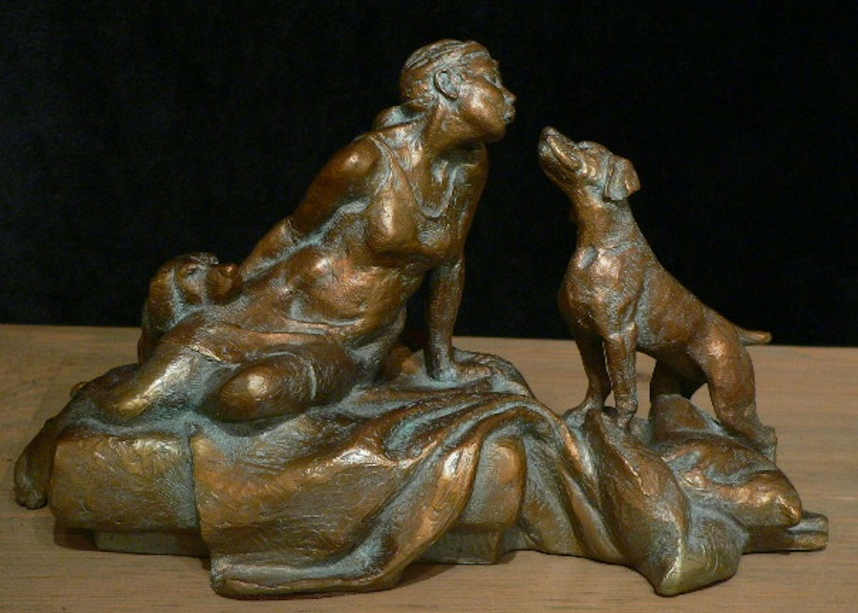 "Three Best Friends | 8"" x 14"" x 8"" | Bronze | $2,200"