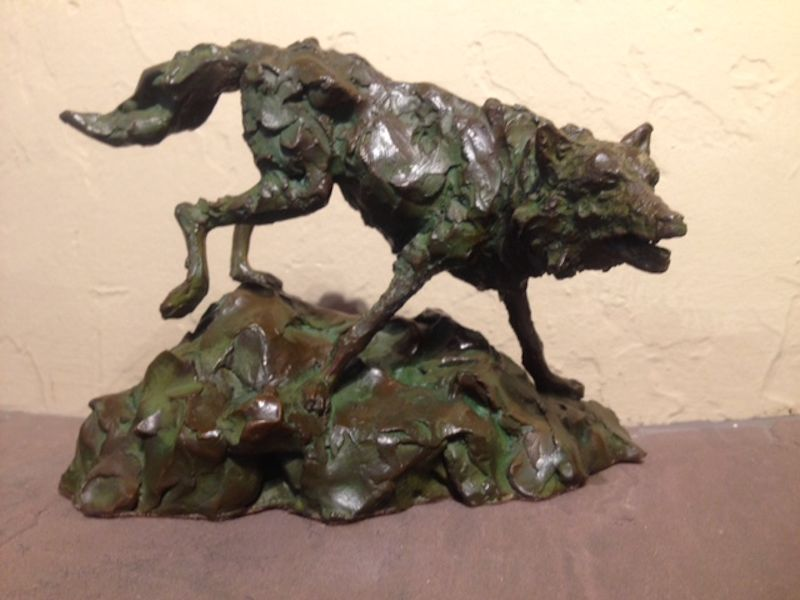 "Forever the Hunter (Wolf) |5.5"" x 7.5"" x 5"" 