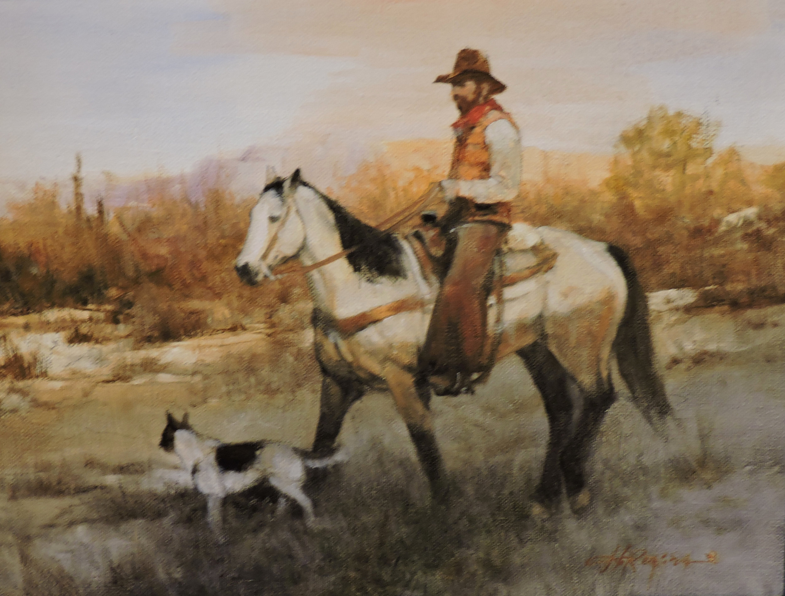 "Ride with His Buddy | 14"" x 18"" 