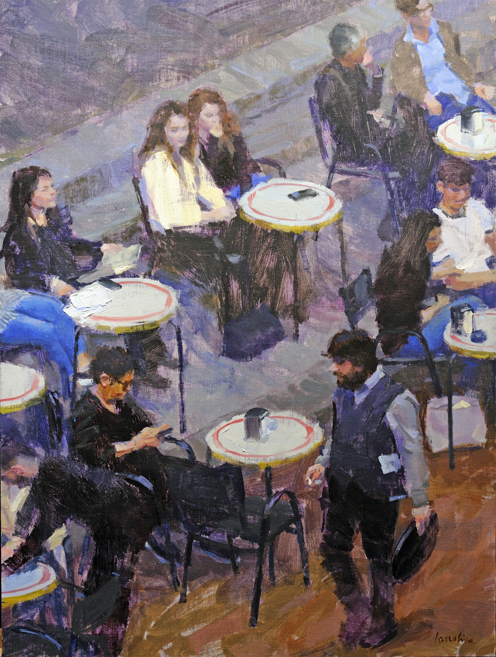 "Café Atmosphere | 24"" x 18"" 