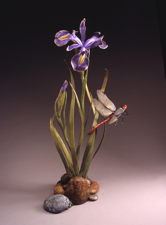 "Wild Iris | 48"" x 23"" x 18"" | Bronze | Edition of 40 | $8,100"