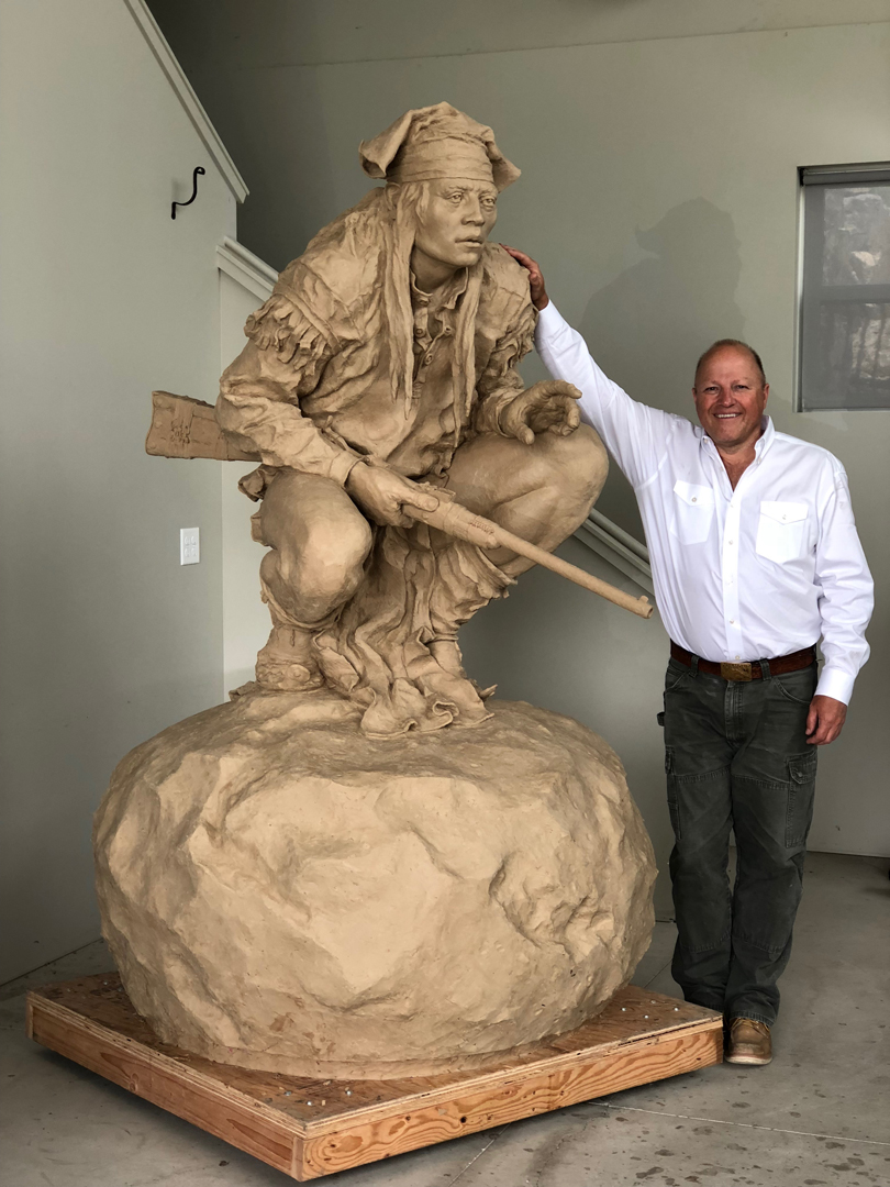 "Chiricahua Apache (Monument) | 6' 11"" x 4' 2"" x 4' 2 "" | Precast for Bronze | $54,000"