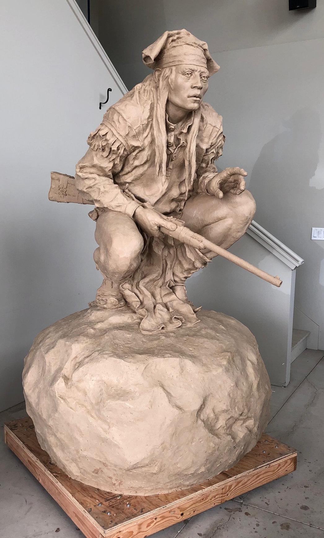 "Chiricahua Apache (Monument)   Precast for Bronze   6' 11"" x 4' 2"" x 4' 2""   $54,000"