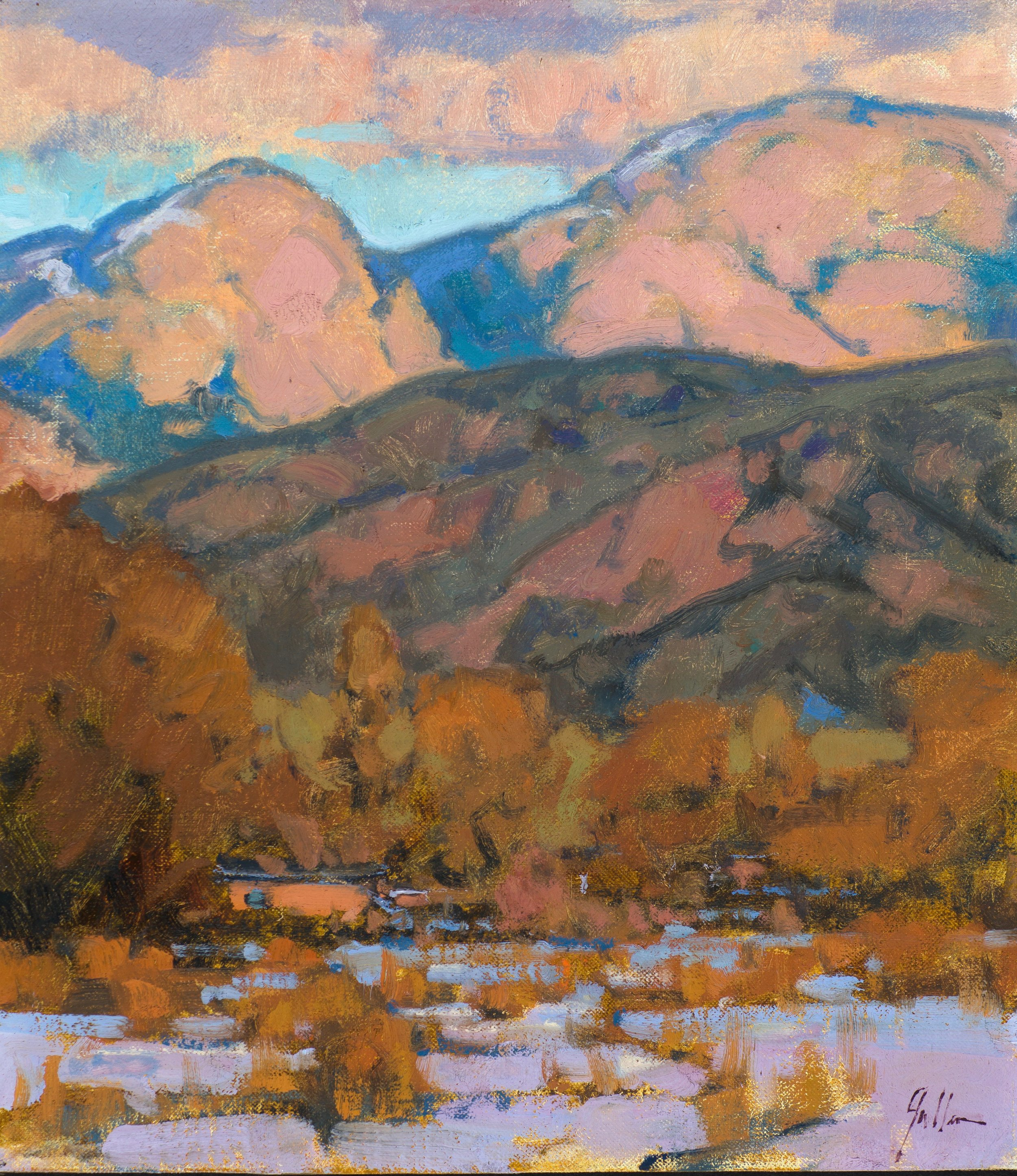"Taos Winter | 16"" x 12"" | Oil | $2,500"