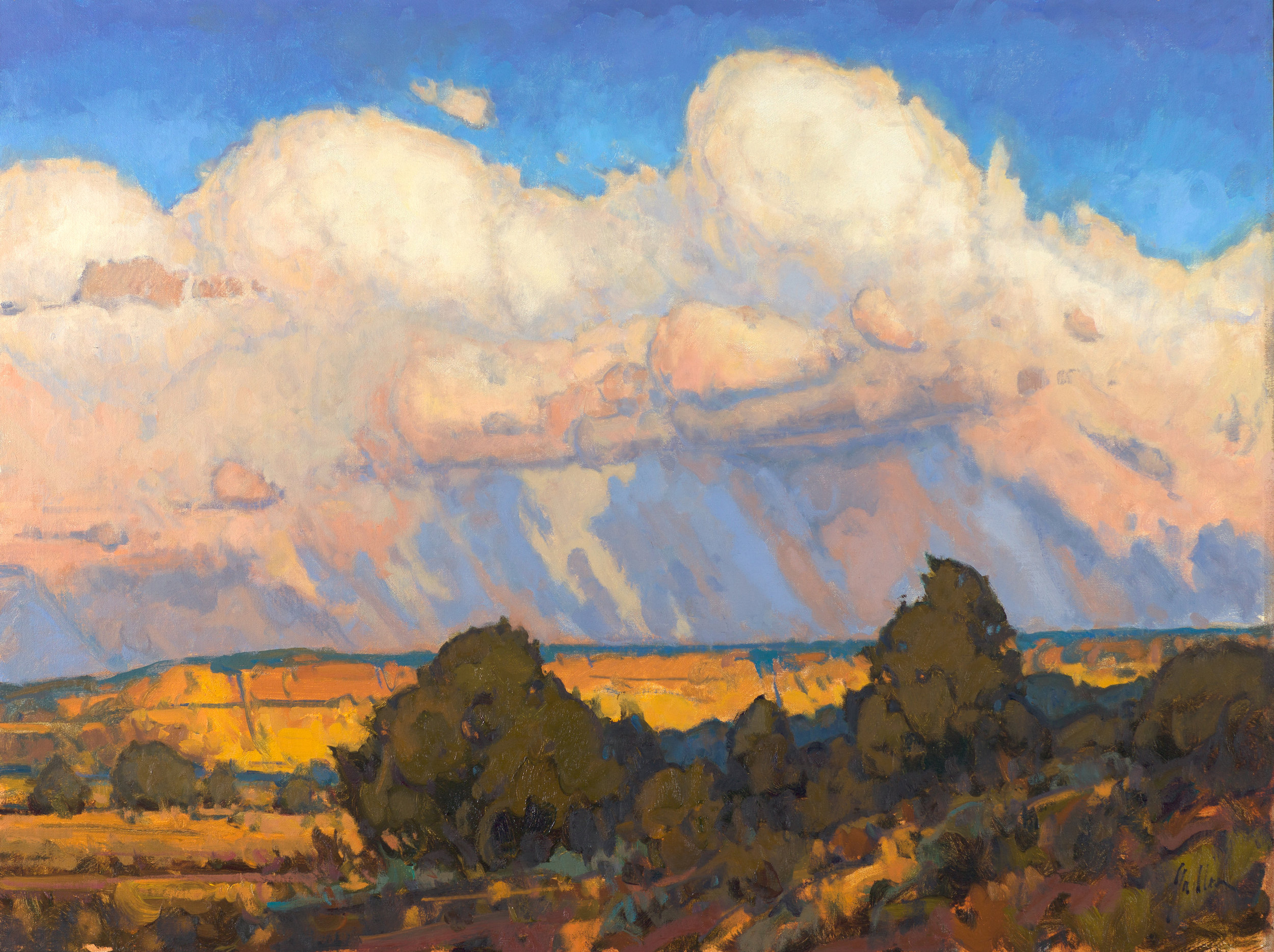 "Rain on the Mesa | 30"" x 40"" | Oil | $10,500"