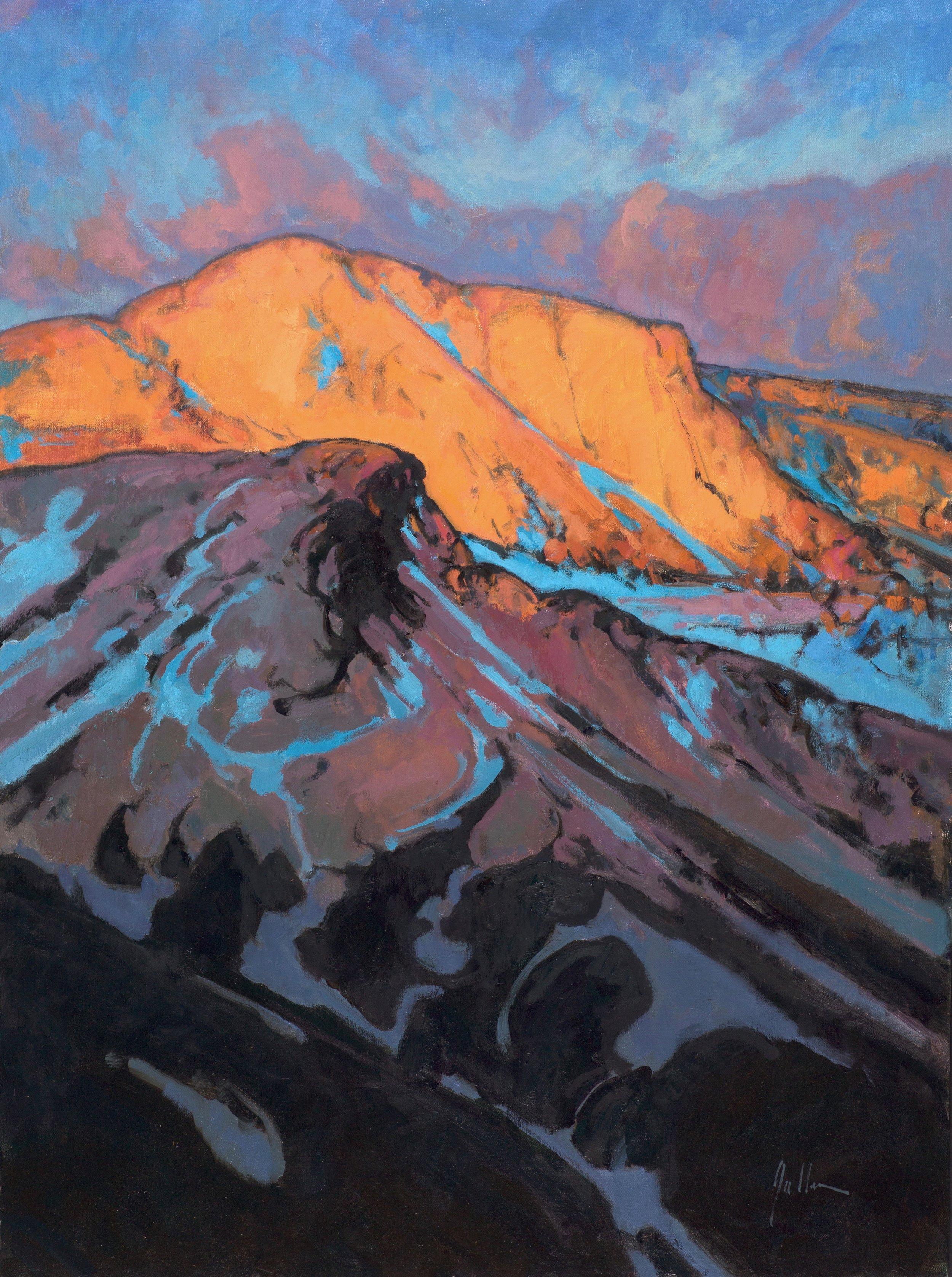 "Tom's Mountain ( Fire on the Mountain II )  | 40"" x 30"" | Oil | $9,500"