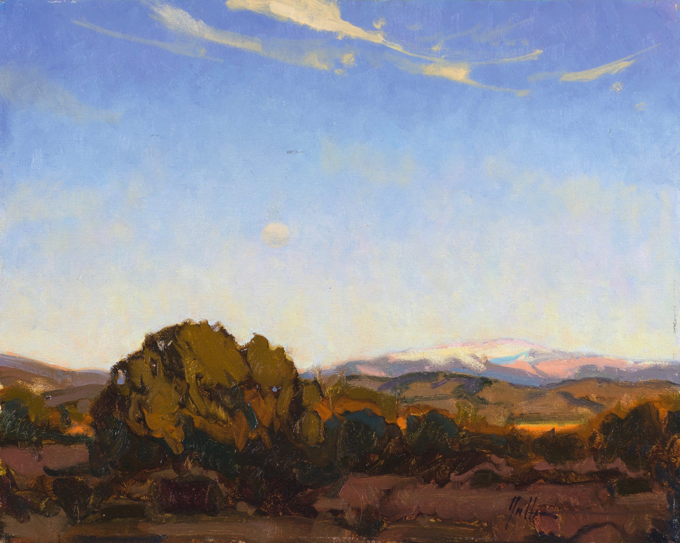 "Moonrise Over the Sangres | 16"" x 20"" 