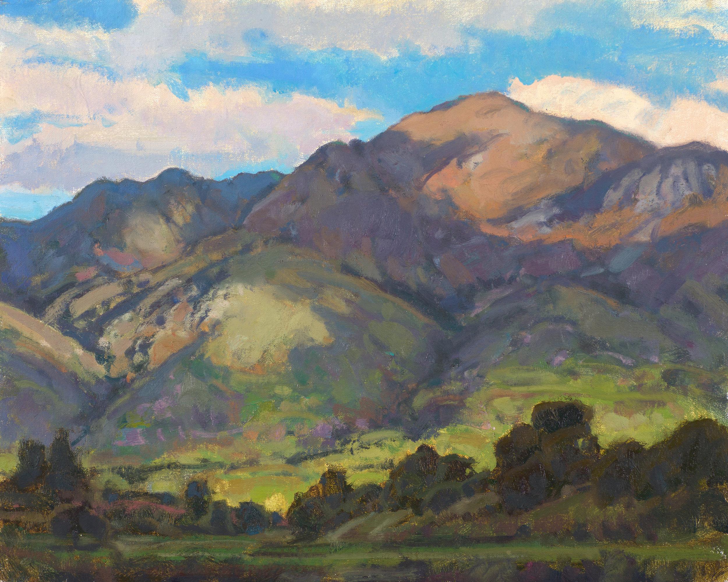 "Spring Morning Along the Ridges | 9"" x 12"" | Oil | $1,500"
