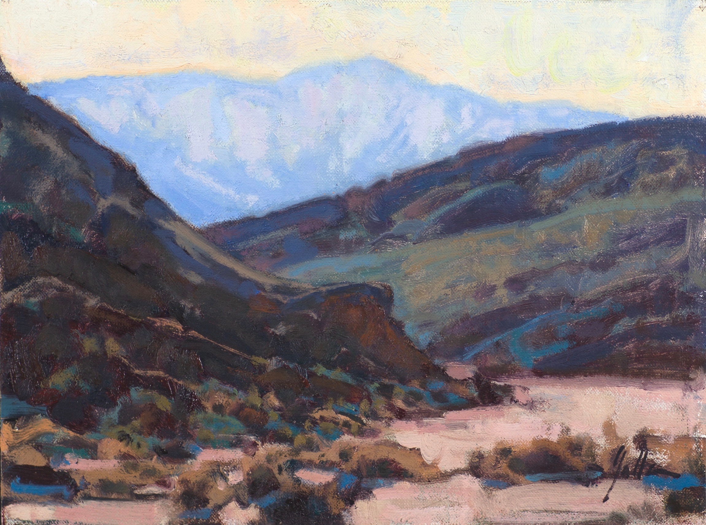 "Patterns of the Panamint | 9"" x 12"" 