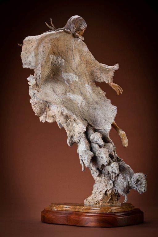 "White Buffalo Calf Woman   31"" H x 19"" W x 15"" D  Bronze   Edition of 35   $11,500"
