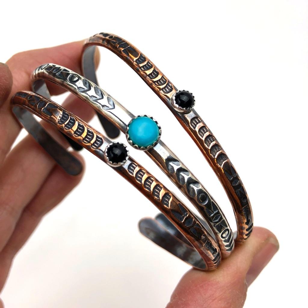 Stamped Cuff Bracelets