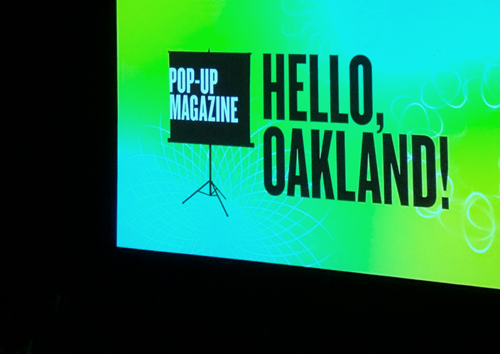 "Pop-Up Magazine Tour - Skin of Glass | June 13, 2019I was invited to join Pop-Up Magazine's spring tour this May and after sold-out premiere events in San Francisco and Oakland, I traveled to Portland, Seattle, Los Angeles, New York and DC. Pop-Up is a beautiful ""live magazine"" evening that features writers, photographers, filmmakers, radio producers and illustrators performing true stories in mixed media with live music.It was an exciting creative challenge to translate a film project into a live event and I'm thankful to producers Tina Antolini and John Woo for their collaboration and to the whole Pop-Up team for an unforgettable experience. So many people spoke to me after the events to say how moved they were by the story."