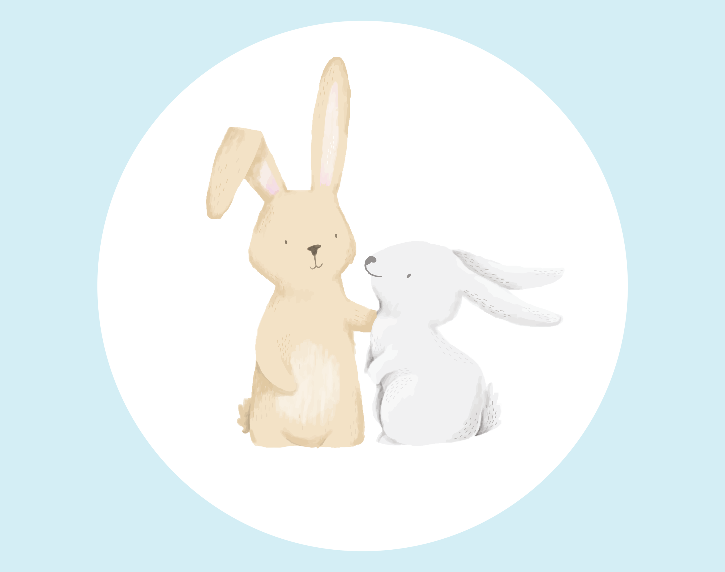 NUESTRoS VALORES - Mila y Vanila son dos conejas amigas que representan los valores que queremos enseñarles a los niños y niñas : determinación, independencia, amor por aprender, creatividad y solidaridad.