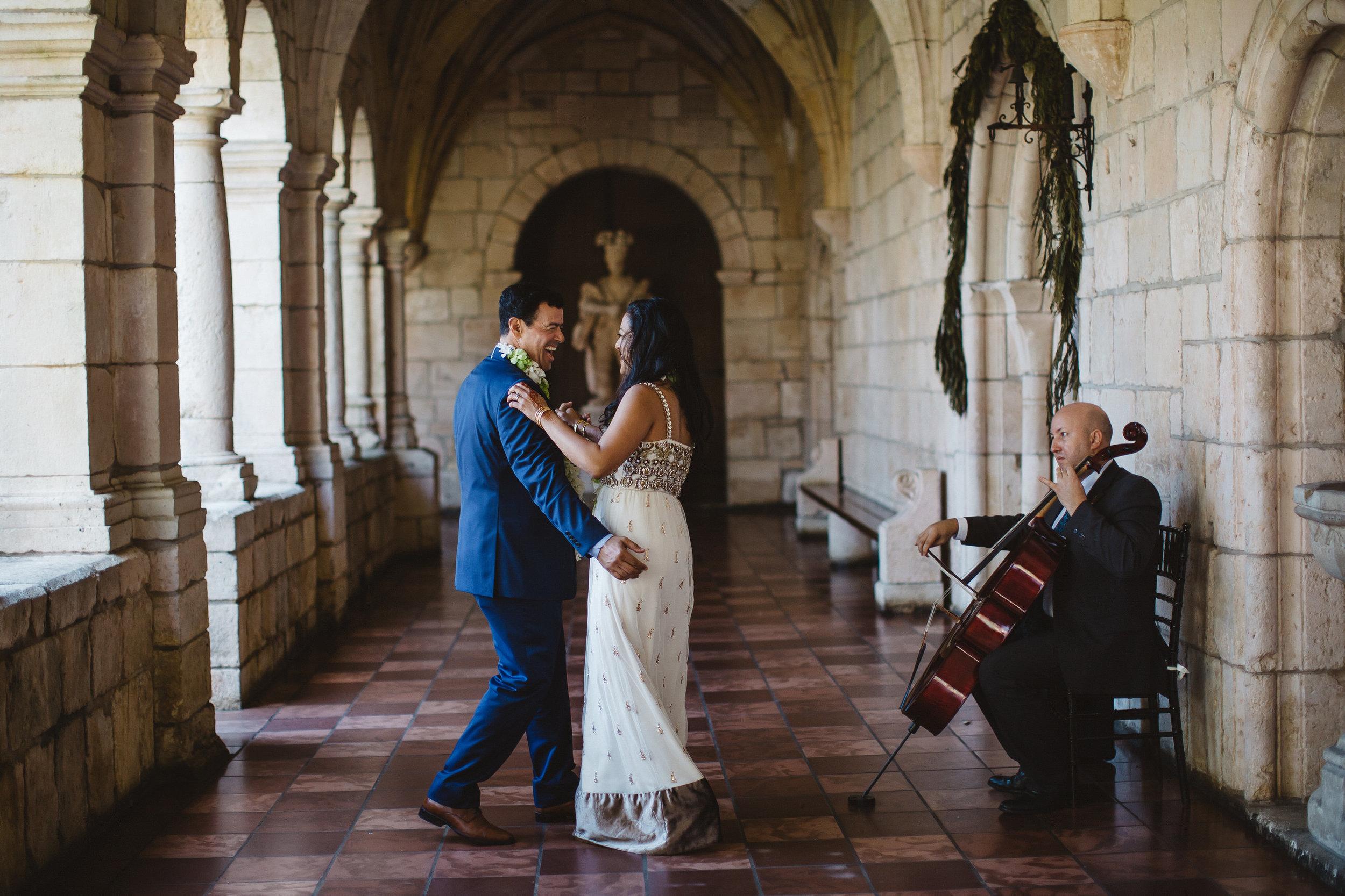bride-and-groom-first-dance-spanish-monestary-tiny-house-photo.jpg