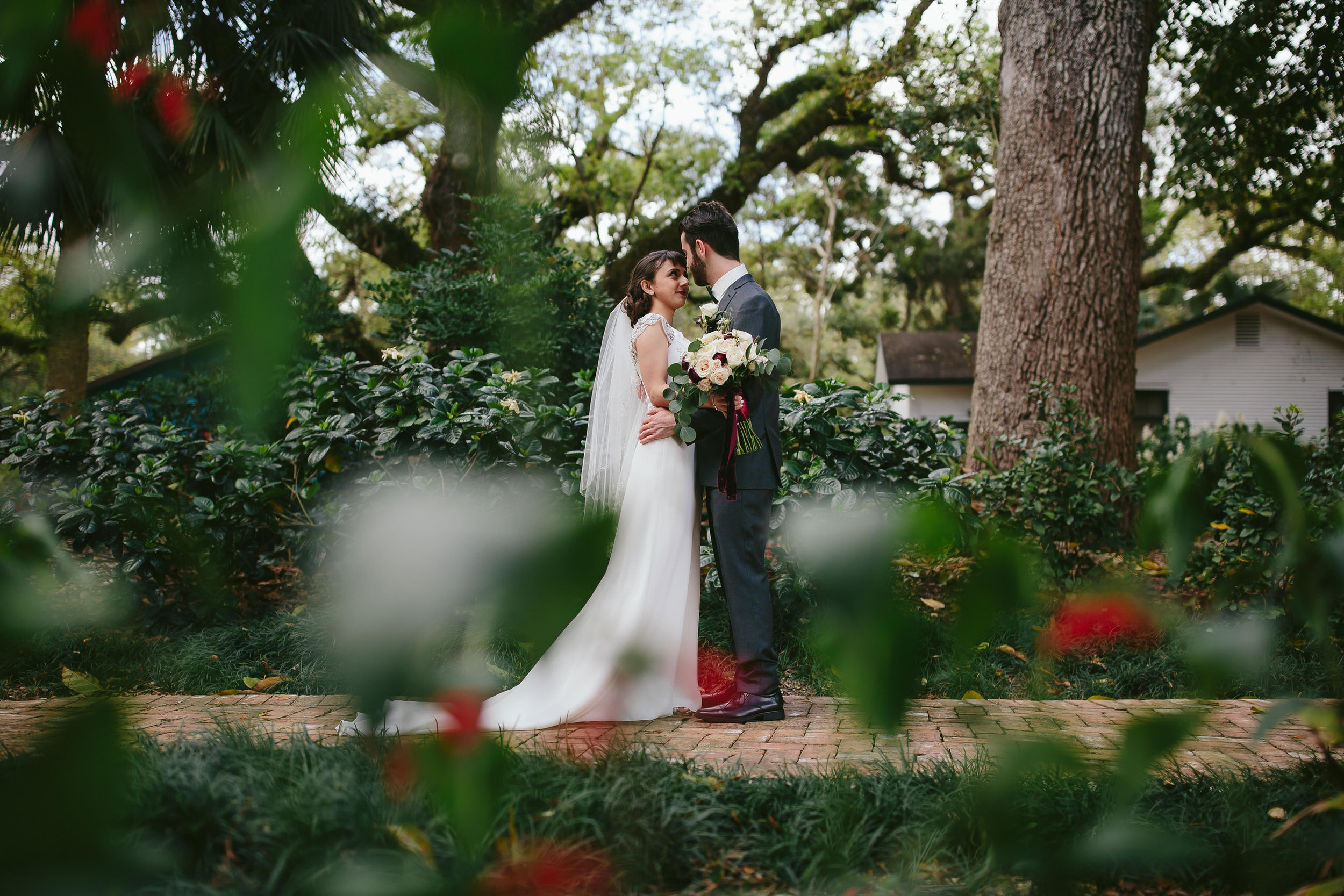 first look bride groom wedding south florida tiny house photo