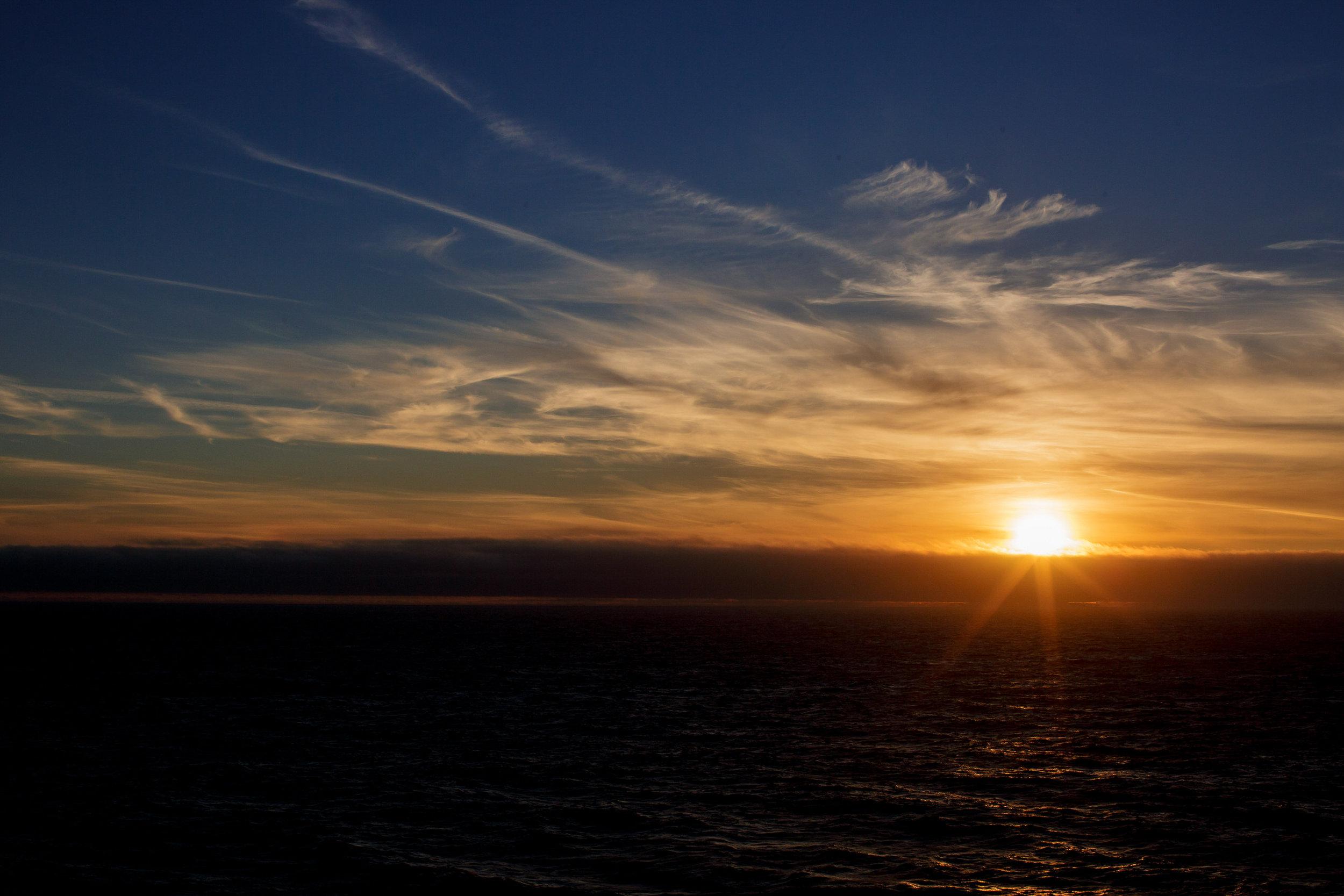 sunset at sea princess alaska tiny house photo