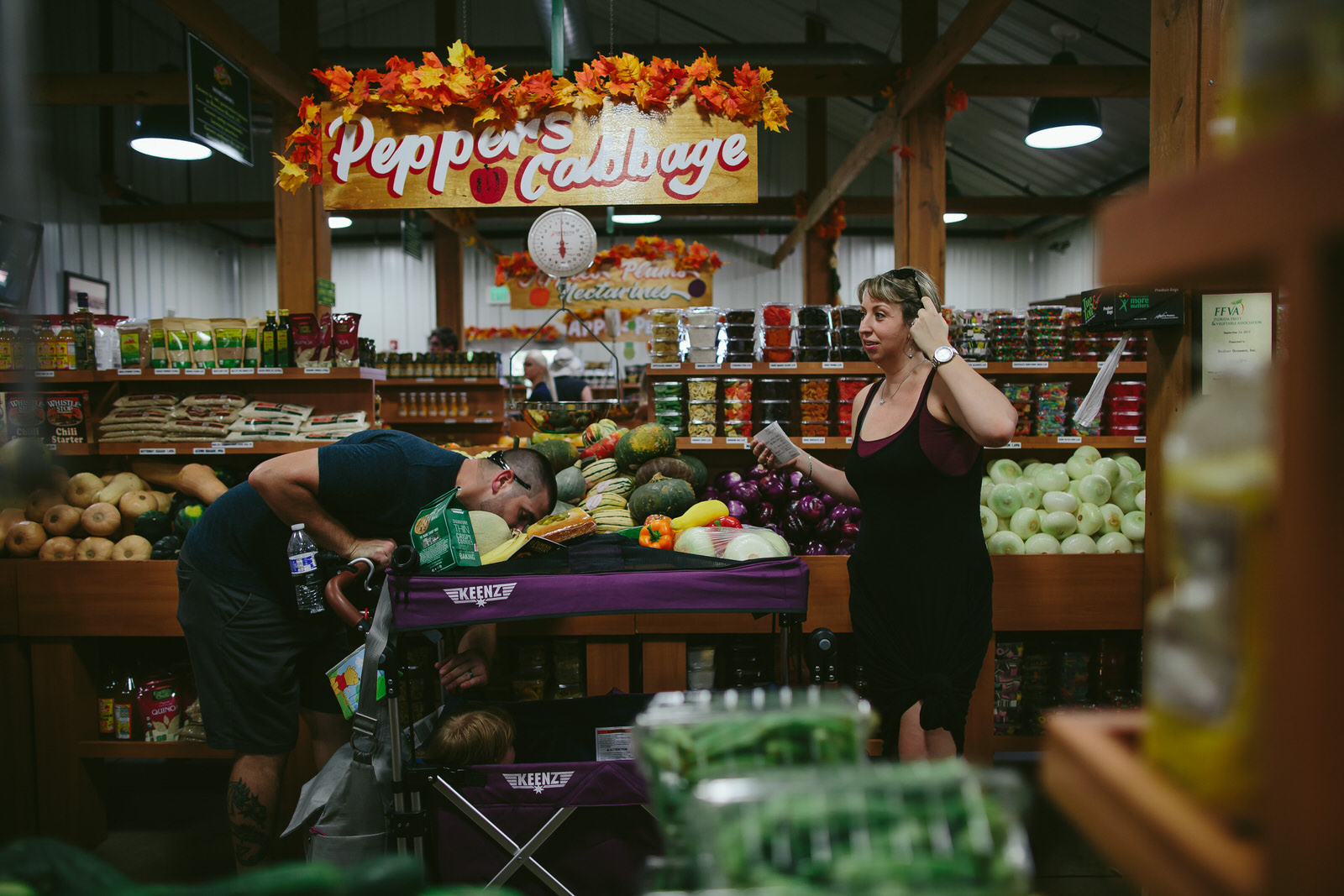 family day in the life grocery shopping farmers market tiny house photo