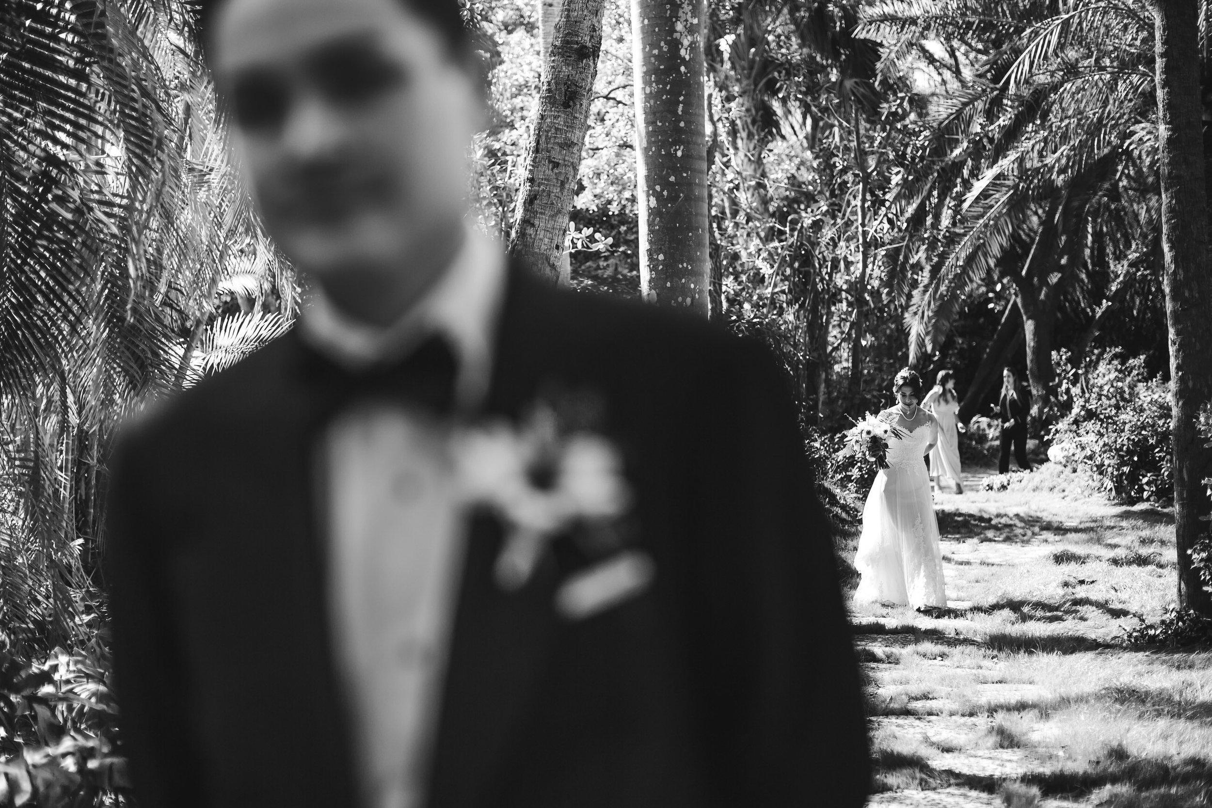 first_look_bride_groom_backyard_elegant_wedding_tiny_house_photo.jpg