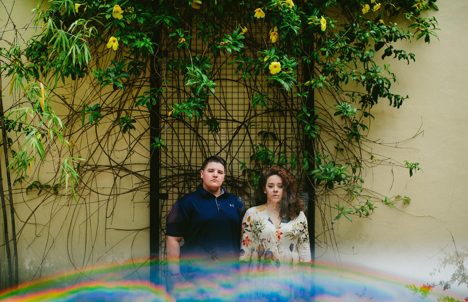 LGBTQ couple engagement portraits LOVE IS LOVE