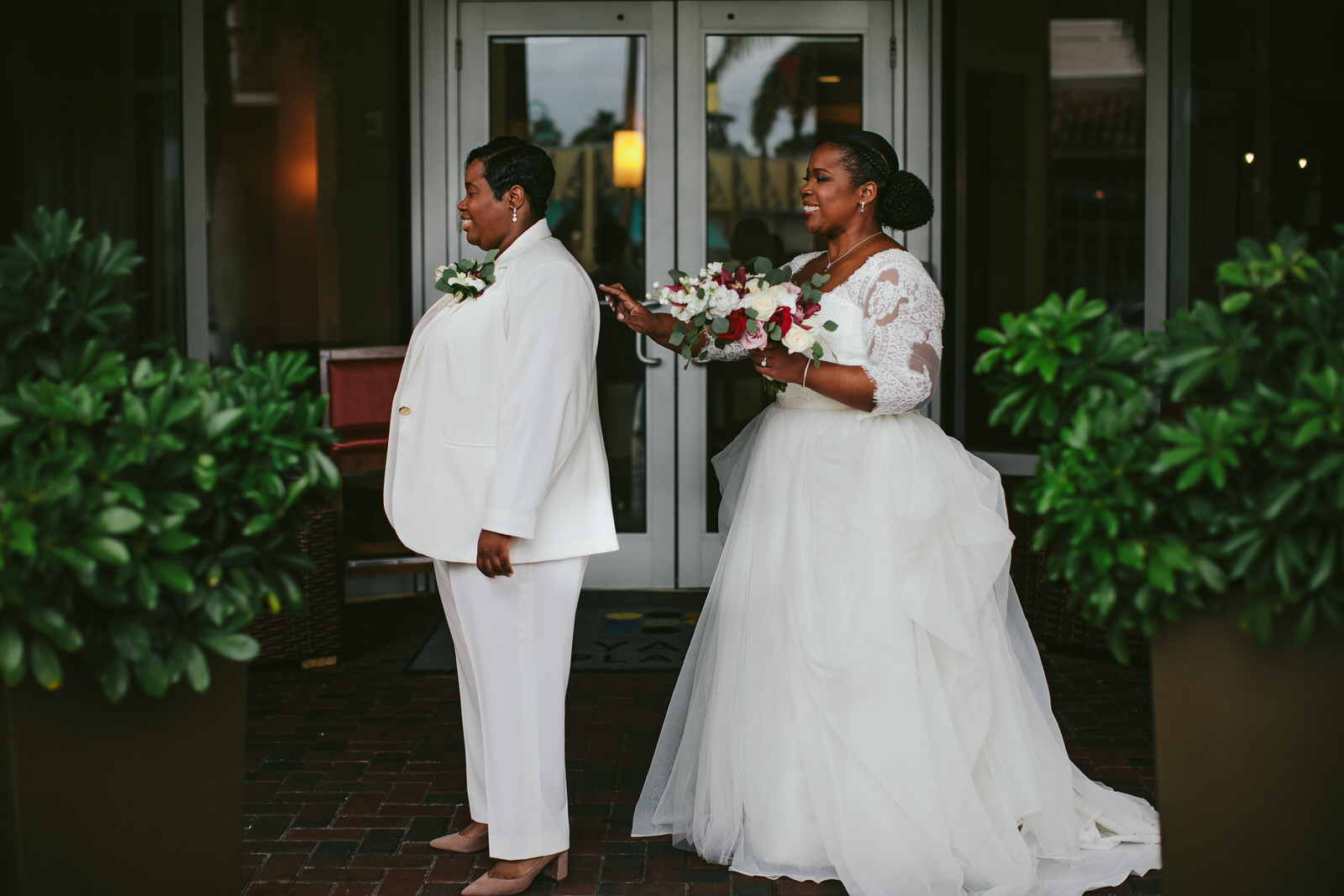 first-look-lgbtq-wedding-delray-beach-florida-tiny-house-photojpg