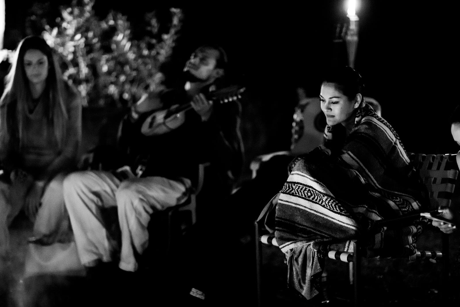 bonfire-singing-guitar-kashi-ashram-wedding-weekend