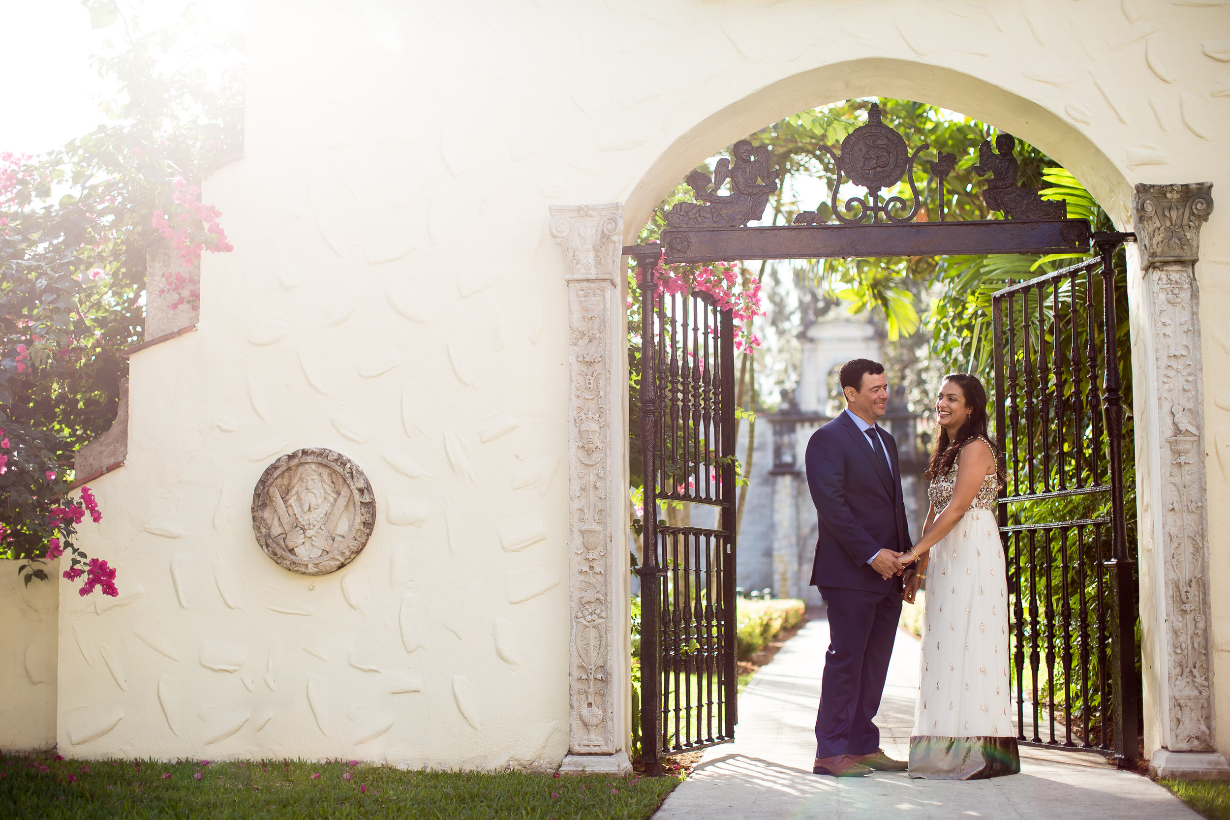 Indian Couple Married at the Spanish Monastery in North Miami Beach by Tiny House Photo