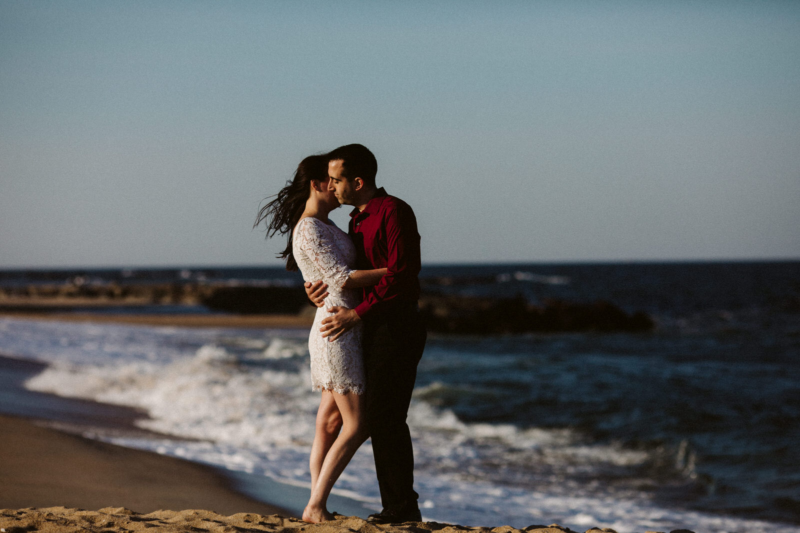 sunset-engagement-portraits-jersey-shore-asbury-park-tiny-house-photo-wedding-photographer-romantic-ocean-beachjpg