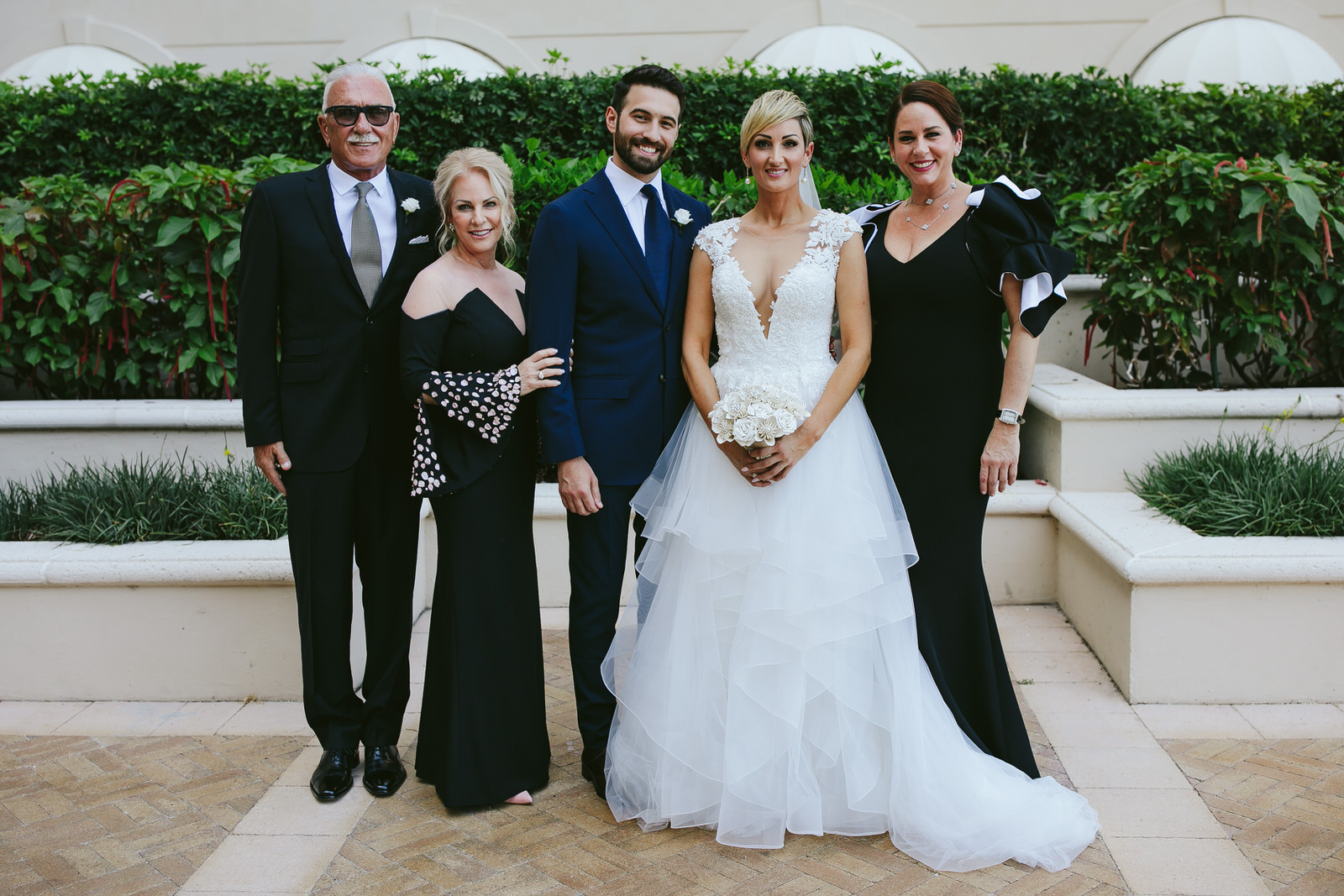 ritz carlton key biscayne family formal wedding portraits
