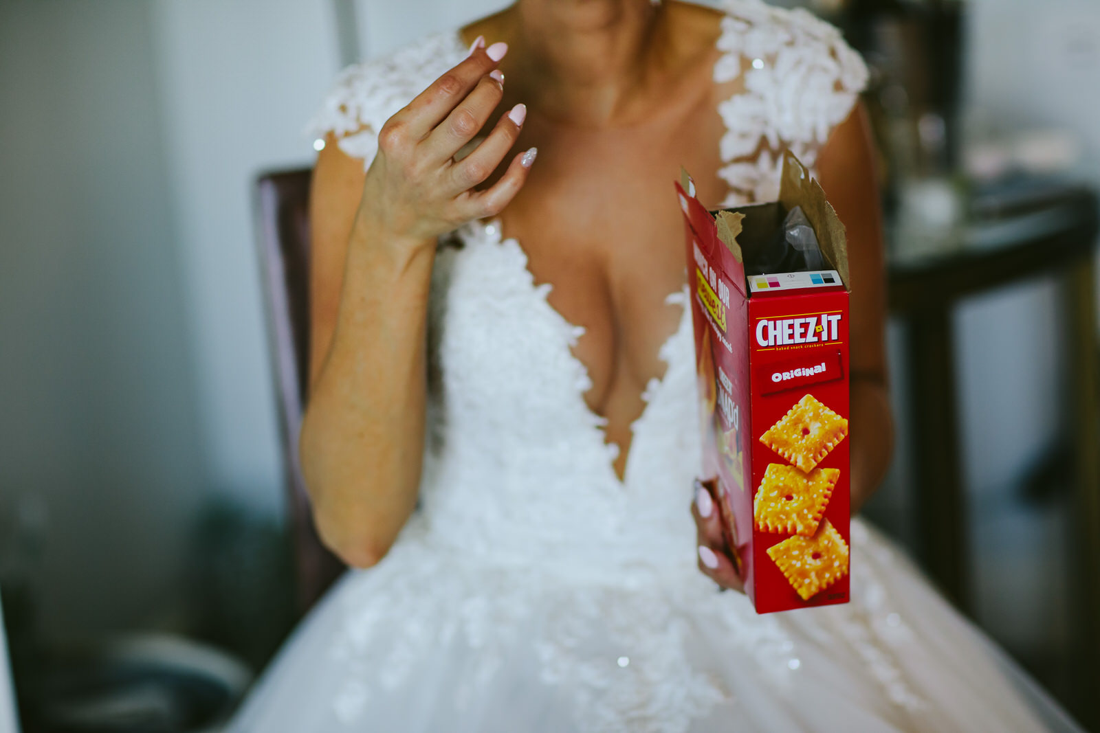 Bride and Groom Key Biscayne Ritz Carlton Wedding Cheez It